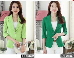 Wholesale Leisure Suits Candy - Spring New Leisure Seven Sleeves Small suit coat Joker temperament Candy colors SuitWomen's Small Suit Size S-4XL