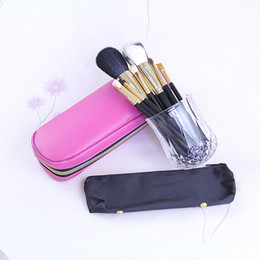 Wholesale Shipping Bags For Hair - NEW Makeup brushes 12pcs Professional Brush Pink +leather bag Fashion Makeup Brushes Makeup Tools For Free Shipping 20pc