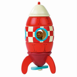 Wholesale Magnetic Rocket - Magnetic Aircraft Rocket Helicopter Removal Disassembly Assembling Wooden Model Toys Children Intelligence Educational Kids Toys