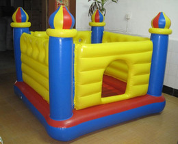 Wholesale Commercial Inflatables - PVC Tarpaulin Material and Castle Type commercial inflatable bouncer castle inflatable jumping castle for kids amusement outdoor toy