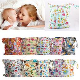 Wholesale Wet Dry Wholesale Reusable - 48 design Baby Nappy Reusable Washable Wet Dry Cloth Zipper Waterproof Diaper Bag Infant Nappy Stacker Storage Bag KKA2247
