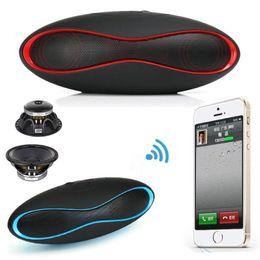 Wholesale Usb Mini Football Speaker - HIFI X-6 MINI Sound Rugby Football Wireless Bluetooth Speaker AUX USB Portable Audio Player Music for phone Computer Subwoofer