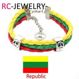Wholesale Gift Football World Cup - 44# Football world cup bracelet Lithuania peace football fans bracelet National Day Bracelet