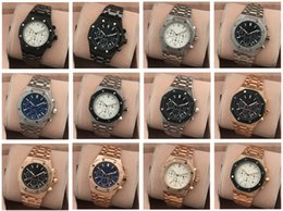 Wholesale White Watches For Mens - All Subdials Work AAA Mens or women Watches Steel Quartz Wristwatches Stopwatch Luxury Watch Top Brand relogies for men relojes Best Gift