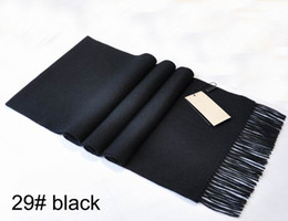 Wholesale Top Quality Cashmere - Top Quality 100% Cashmere Winter Mens Scarf 2017 Blank Designer Soft Man Scarf Vintage Super Warm Male Women Scarves 180x30