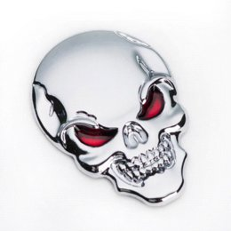 Wholesale Cheap Car Styling Accessories - 2015 Hot Sale 3D Metal Skull Car Sticker Motorcycle Truck Emblem Car Styling Accessories Cheap motorcycle accessories us