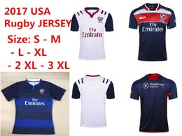Wholesale Usa Rugby Shirt Xl - top quality 16 17 NRL National Rugby League USA United States Rugby jerseys navy blue 2016 2017 USA rugby mens shirts