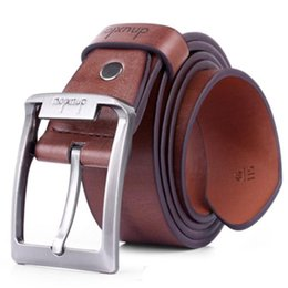 Wholesale Prong Belt - Wholesale- High Quality New Mens Leather Single Prong Belt Business Casual Dress Metal Buckle mens designer belts 2017 Vicky