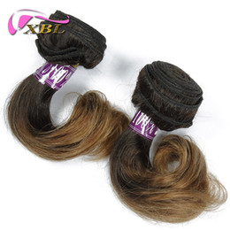 extensões de cabelo humano de onda curta Desconto Extensões de cabelo humano xblhair onda do corpo de cabelo humano curto diferentes pedaços real virgem cabelo humano feixes