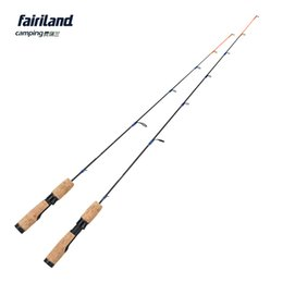 Wholesale Solid Fishing Rod - 1SEC new 71cm 81cm 100% solid carbon ice fish rod ML M 2.4ft 2.8ft winter casting fishing pole ice fishing tackle