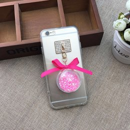 Wholesale Ornaments For Cell Phones - 2016 Fashion Cell Phone Cases For Apple iPhone 5S 6 6S Plus 6SPlus Crystal ball ornaments wholesale mobile phone shell mirror