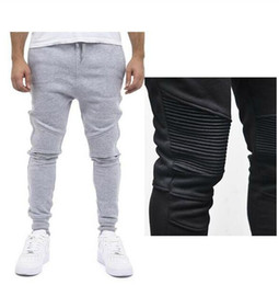 Wholesale Hip Hop Casual Harem Pant - Fashion Biker Joggers Jogging Slim Fit Skinny Sweatpants Harem Pants Man Hip Hop Swag Clothes Clothing Men Gray Black Kanye West