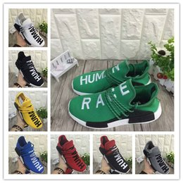 Wholesale People Running - 2016 new Williams Pharrell x NMD HumanRace People Racing Shoes Yellow Black NMD Human Race runner men women sports running sneakers 36-44