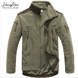 Wholesale Hunting Clothes Green - Fall-Men Tactical clothing autumn winter fleece army jacket softshell outdoor hunting clothing men softshell military style jackets