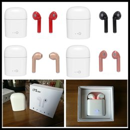 Wholesale Earbuds Iphone Box - I7S TWS Wireless Bluetooth Earphones Twins Earbuds with Charger Box for Iphone X 8 7 Plus Android Samsung Sony 5 Colors DHL Free
