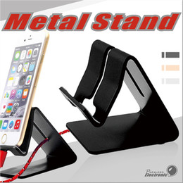 Wholesale Mobile Phones Smartphones - Universal Mobile Phone Stand Aluminum Metal Phone Holder Stander For iPhone Samsung Tablet PC Desk Phone Holder Stand For Smartphones