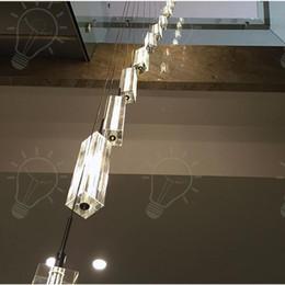 passare le lettere Sconti Moderno minimalista moda trasparente K9 cristallo blocco a forma di S scale duplex lampadario pendente lampadario illuminazione per hotel
