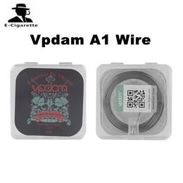 Wholesale 22 Wire - Vpdam A1 Wire 30 Feet 22 24 26 GA Heating Wire for DIY RDA RBA Atomizer