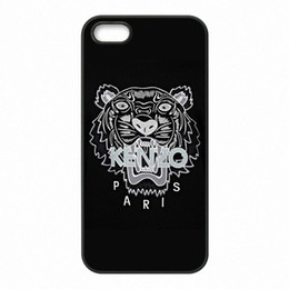 Wholesale Phone 4s Case - Black Tiger Phone Covers Shells Hard Plastic Cases for iPhone 4 4S 5 5S SE 5C 6 6S 7 Plus ipod touch 4 5 6