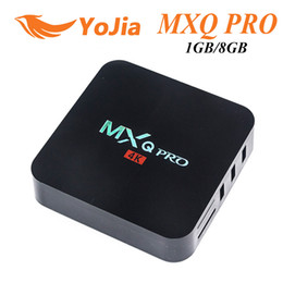 Wholesale Movie Streams - MXQ Pro Amlgoic S905w 4K TV Box Full Loaded Quad Core 1GB 8GB Android Streaming Media Player Support Wifi 3D Free Movie