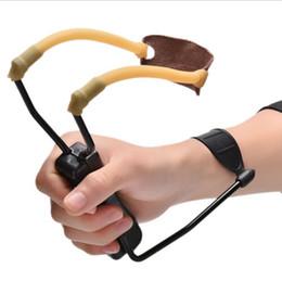 Wholesale Slingshot Wholesale - HOT factory price Folding Wrist Sling Shot Slingshots High Velocity Hunt Brace Bow Outdoor Hunting 02Q4 4MEV BHRN