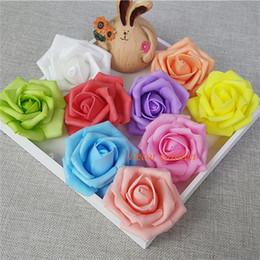 2019 espuma rosa chefes 7 cm art rose artificial pe 02 cabeça de flor para diy flower wall casamento beijando bola arch decoração 13 cores espuma rosa chefes barato