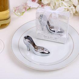 Wholesale Bridal Shower Shoes - Cinderella shoe bottle opener 100PCS LOT wedding bridal shower favor party gifts Free shipping