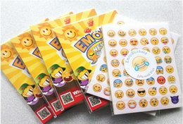 Wholesale Notebook Yellow - one sheet 48 stickers hot popular sticker 48 Emoji Smile face stickers for notebook, message Twitter Large Viny Instagram