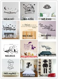 Wholesale Wholesale Vinyl Lettering - Mix Order Removable Vinyl Lettering Quote Wall Decals Home Decor Sticker Mordern art Mural for Kids Nursery Living Room