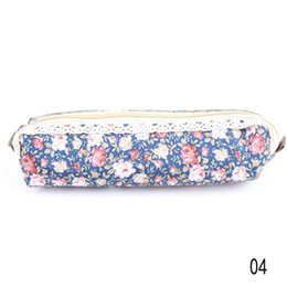 Wholesale Pencil Case Fabric Floral - New Arrival fashion Cute Polka Dot Floral student pencil bag storage bag stationery cases drop shipping OSS-0095