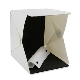 "Wholesale Box Studios - Foldable 9"" Desktop Table Photo Studio Light Tent Video Lighting Box Shooting Tent with 20-LED Light"