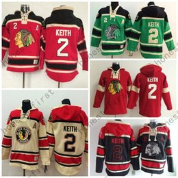 Wholesale Hooded Sweatshirt Xxl - Cheap Men's Chicago Blackhawks Cheap Ice Hockey Jersey Hoodie #2 Duncan Keith Ice Hockey Hoodies  Hooded Sweatshirt