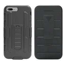 Wholesale Hybrid Case For Iphone 5c - 3 in 1 Hybrid Black Armor Case For iPhone 7 5 5S SE 5C 6 6S 7 Plus Kickstand Holder Heavy Duty Cover For LGK6 X POWER V20 Styus2plus MS550