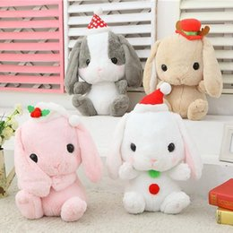 Wholesale Cute Teddy Girl - New Rabbit Doll Plush Toy Cute Lop Rabbit Bugs Bunny Doll Christmas Style Nice Gift Girls Dolls Baby Toy