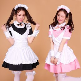 Wholesale Japanese Princess Costumes - The Cute New Design Japanese Cosplay Costume The Maid Lolita Outfit Cartoon Princess Lolita Girls Daily Dress Suits