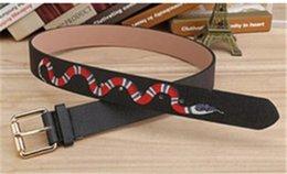 Wholesale Men S Leather Wear - 2017 Deluxe jeans belt designer belt men's snakes with men's wear belt for free delivery