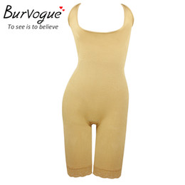Wholesale Tummy Shapers For Women - Wholesale-Burvogue Hot Shapers Butt Lifter and Tummy Control Shaper for Women Slimming Waist Shaper Underwear Full Body Shapers Shapewear