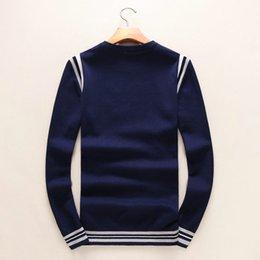 Wholesale Thin Long Sleeve T Shirts - fashion men's long sleeve shirts, young men's T-shirts, casual knit shirts, men's little monsters, sweaters, coats, 100%