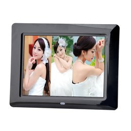 Wholesale Electronic Advertising - Fashion ultra-thin 8-inch high-definition digital photo frame LED electronic photo frame full format player advertising video player