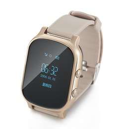 Wholesale Golden Maps - 2016 New GPS Tracker Smart Watch T58 Kids GPS Watch Google Map SOS Anti Lost GSM Locator Children Smart Bracelet Better Q50 Q60
