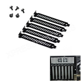 Wholesale computer dust filters - Wholesale- 5pcs New Black PCI Slot Cover Dust Filter Blanking Plate Hard Steel w screws