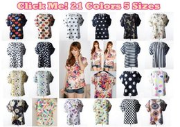 Wholesale Summer Blouses Sold Wholesale - New 2016 Women Blouses shirts Hot Selling Loose Animal Floral Dots Printed Chiffon Blouse short sleeve Tops Summer multi styles o-neck