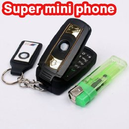 Wholesale Black Keys Mp3 - New high quality cheap Unlocked Fashion single sim card cartoon flip mobile phone super design car key cell phone cellphone with LED light