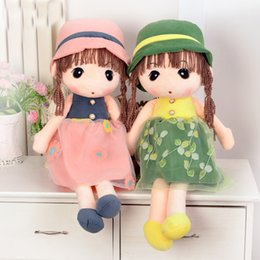 Wholesale Cute Gift For Wedding - Plush toy doll Kids Cute Toy Lovely Plush Dolls large puppets children girl doll for her birthday or wedding gift dolls 42 cm