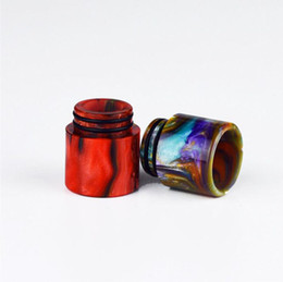 Wholesale Big Ecig - Top Epoxy Resin Drip tips Wide Bore 510 dripper tip Mouthpiece Smok TFV8 TFV12 Big Baby Tank atomizer ecig Mod RDA