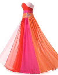 Wholesale Vestidos Largos Lace - Real Pictures 2016 Modern Multi Color Sweetheart Lace-up Chiffon Long Evening Dress A-line Vestidos Largos De Party Dress for Women
