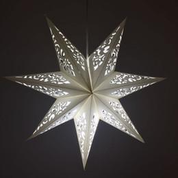 100% ручной работы белая бумага звезда свет абажур украшения выдалбливают дизайн бумажный фонарь свет Ремесло для свадьба и фестиваль от