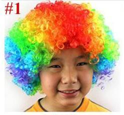 Wholesale Brand Wigs - Unisex Cosplay Wigs Clown Wig Halloween Christmas Party Wig Curly Wigs Explosion Head Wig Rainbow Joker Wigs