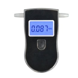 Wholesale Digital Breath Alcohol Tester Mouthpieces - NEW Hot selling backlight Professional Police Digital LCD Breath Alcohol Tester Breathalyzer AT818 Free shipping+ mouthpieces