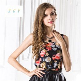 Wholesale Rayon Tank Top L - Wholesale-2016 Fashion New Fashion Women Girl camis Casual Chiffon Vest Top tee Tank Sleeveless T Shirt Blouse